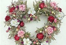 Valentines Day straw wreaths