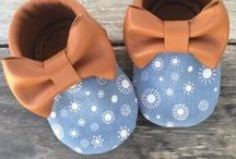 Ohmyhug baby shoes / Handmade leather soft sole baby shoes