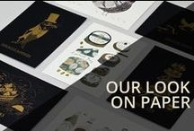 Our look on paper / A look at branded collateral A Side design created for us
