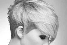 Short hairstyles and under/side cuts / #short #hairstyles #undercut #punk #pixie #cut #shaved #colored #emo #scene