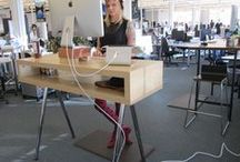 STANDING DESK HACKS / Get inspiration on how you can hack together your perfect standing desk. Hack your way to standing desk gold!