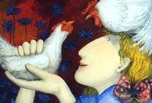 Galline - Libri e illustrazioni / Le galline cercano le loro simili