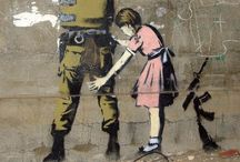 Banksy / Never underestimate the power of a big gold frame