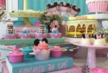 Festa cozinha da Minnie: Cami 3 anos / Cozinha minnie rosa confeitaria  festa minnie lembrancinhas minnie decoração festa Minnie  Minnie party patisserie Minnie