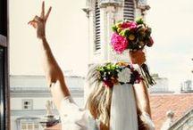 BOHO wedding hair / I will collect BOHO wedding hair stylish adults can use.#wedding hair #boho #boho wedding #bohemian #bohemian wedding #vintage wedding #おしゃれなウェディンヘア #洗練されたウェディング #大人のウェディングヘア #ウェディングヘア