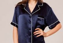Silk Pajamas Top / Silk pajama top is made from 100% 19 momme pure Mulberry silk.