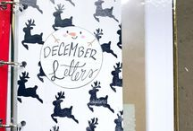 December Daily // ideas / A board to help me stay inspired as I wrote letters through the month of December.