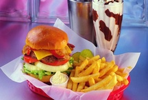 burgers dogs fries shakes / by mary b
