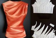 Pattern design: pleats tucks darts   Моделирование: складки подрезы вытачки