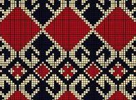 Knit & crossstich patterns   Узоры