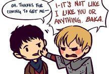 Merlin / MERLIN!  Btw I ship Arthur and merlin so hard it's ridiculus