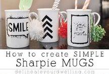 DIY inspirational message mug