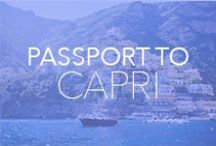 Destination: Capri / Your ticket to stylish fun in Capri, Italy. Check out our website for more inspiration at www.vacationstyle.com.