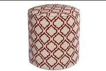 Ottomans  Floor Stools   Poufs / These floor pieces serve a variety of purposes while adding color and texture to your space.