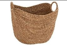 Baskets / Baskets serve endless purposes and make everything cuter! Use them in all rooms of the house for storage and decor.