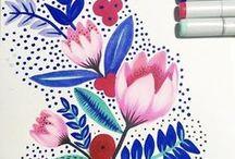 Illustration: flower & plantes   Иллюстрации: цветы и растения