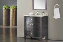 "Single Bathroom Vanities / #CabinetsToGo Bathroom Vanities ranging from 28""-46"" for design and space saving functionality. www.cabinetstogo.com"
