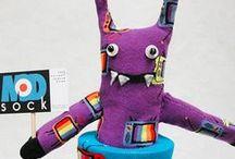 Sock Creatures & DIY / Sock monkeys, monsters and more.