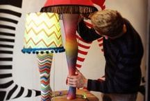 """Our Leg Lamp Window Display / """"The snap of a few sparks, a quick whiff of ozone, and the lamp blazed forth in unparalleled glory."""" ModSock's """"A Christmas Story""""-inspired window display is unparalleled glory times twelve!"""