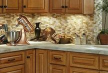 Kitchen Design: Country Lodging Theme with Brown Kitchen Cabinets / Style your county kitchen around our B. Jorgsen & Co Westminster Glazed Toffee Kitchen Cabinets!