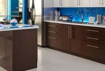 Kitchen Design: Mad Men Interior with Sleek Kitchen Cabinets / It's not just about the drinks when creating a Mad Men kitchen! Add colorful retro pieces with rugged accessories to our Roberto Fiore Modern Elegance kitchen cabinets to create the perfect Mad Men space!