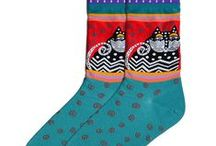 Laurel Burch Sock Collection / The colorful designs of American folk artist Laurel Burch on socks from K. Bell.