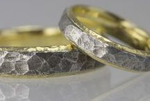 Stainless steel + GOLD rings by KREDUM / Wedding, Engagement and Solo rings made of stainless steel and gold