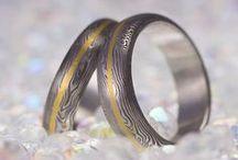Damasteel + Gold RINGS by KREDUM