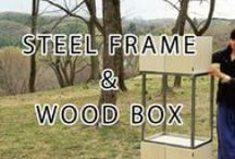wood box & steel frame / DIY & CRAFTS