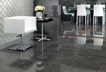Marble look | floor design | MARVEL / Natural colours and veining, deep shades and transparent cloud effects: the Marvel coloured in body porcelain stoneware recreates the surfaces of the most sought-after marble with surprising realism. / by Atlas Concorde