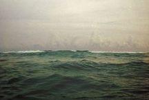 the sea, the sky