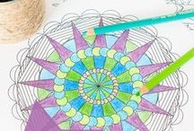 Adult Coloring Pages - FREE / Free resources for printable adult coloring pages -- awesome for art therapy and relaxation.