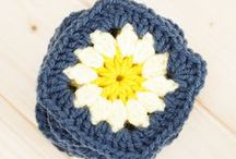 Crochet - Granny Squares and Afghan Blocks / Patterns for crocheted granny squares, afghan blocks, hexagons, and all the awesome sh*t you can make with them! Pillows, blankets, afghans, purses, and more!