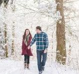 Snow Engagement / Winter Snow themed engagement photography in Tennessee