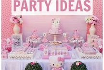 Hello Kitty Birthday / Ideas in planning a little girl's birthday party with a Hello Kitty theme
