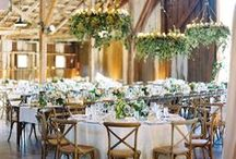 INDOOR RECEPTION: PINE AND FLORALS / Planning an elegant rustic industrial pine wedding reception