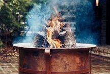 LINDIVIDU * fireplace