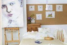 LINDIVIDU  * Artist studio / Styling reportages in artist studio's made by Linda van der Ham. Publication in ariadne at Home magazine Netherlands. Sanoma Media.