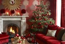 Christmas living room ideas / Make your living room look beautifully festive with these Christmassy ideas.