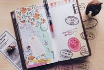 Journaling scrapbook drawing travelers notebook stationaries diy snail mail happy mail illustrations / midori travelers notebook scrapbooking inspiration ideas snail mail happy mails illustration  / by Jane Lee
