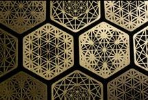 Sacred Geometry Coasters / Laser cut gold sacred geometry coasters and mandalas for the home