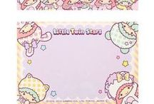Kawaii Stationery / Kawaii stationery pieces for kawaii scrapbooks and pen pal exchanges! Nothing but DIY cuteness!
