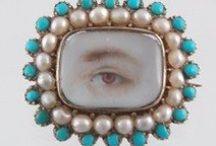 Portrait Miniatures / Antique Portrait Miniatures and Lover's Eyes