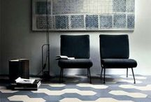 Blue / Ceramic tiles in various shades of blue