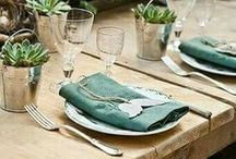 Table Styling / Decoration for Tables from flowers to plates.