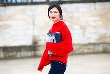 Trendfarbe diesen Herbst: Knalliges Rot / Absoluter Liebling im Streetstyle - die Trendfarbe Rot. Diesen Herbst wollen wir sie als Mützen, Mäntel, Pullover... selbst an roten Hosen kommt man nicht vorbei. Ton in Ton ist die Devise!