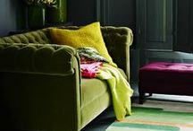 Killer Colour Combos / Interiors with vibrant colour combinations or blends of pastels.