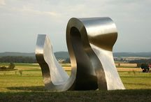 Stainless steel sculptures / Compilation of different sculptures made of stainless steel