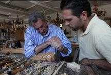 Roberto Giovannini, the Master of carving... / Instinctive passion for carving and love for culture, strength and creativity, rigor and balance. On these reasons, I founded my life and my work. I am living  the present, preserving and sharing them so that this art can live overtime.