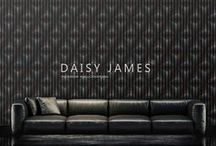 DAISY JAMES wallcover Black and white / #wallcovering #luxury houses #design #interiordesign #styling #metropolitan #luxuryliving #decor #home #instaliving